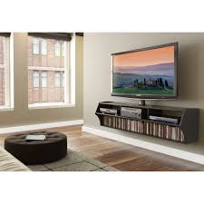 Wall Mounted Media Cabinet Black Furniture Excellent Floating Tv
