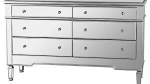 6 Drawer Dresser With Mirror by Nicolette Bedroom 6 Drawer Dresser Mirrored Finish Contemporary