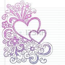 Borders Paper Designs Love Hearts Frame Border Back To School Sketchy Notebook Doodles Illustration Design On