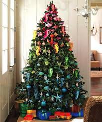 Grandin Road White Christmas Tree by 30 Brilliant Coastal Chic Christmas Tree Decorating Ideas