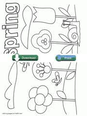 Spring Coloring Pages Free For Toddlers And Preschoolers