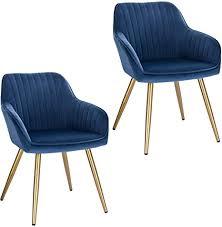 lestarain 2 stücke esszimmerstuhl küchenstuhl wohnzimmerstuhl sitzfläche aus samt polsterstuhl mit armlehne metallbeine polstersessel stuhl für