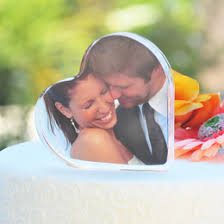 Bride Groom Baby Wedding Cake Topper