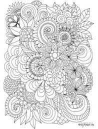 Fashionable Flowers Coloring Pages For Adults Adult 2