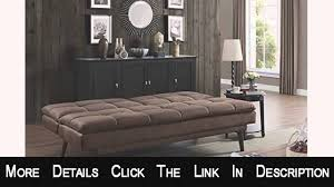 Kebo Futon Sofa Bed Amazon by Dhp The Bex Futon Tufted Pillowtop Sleeper Sofa Faux Leather Youtube