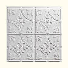 shop genesis white patterned 15 16 in drop ceiling tiles common