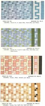 112 patterns of mosaic floor tile in amazing colors