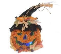 Fiber Optic Pumpkin Halloween by Fiber Optic Color Changing Pumpkin Head W Straw Hat Page 1