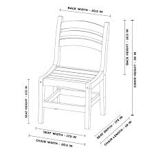 Dining Chair Width Height Room Tables Standard Typical Seat Office