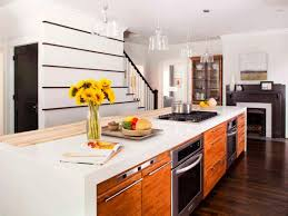 Kitchen Modern Island With Oven Cooktop And Bar Seating Gas