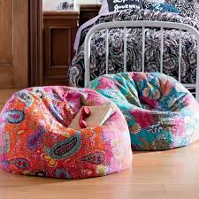 Colorful Floral Bean Bag Sitting Chairs For Bedroom : Comfy Sitting ...