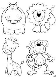Coloring Pages Printable Lion Monkey Free For Kids Animals Giraffe Happy Children Prints Downloadable Collections