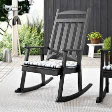 Black Rocking Chairs For Porch Furniture Outdoor Cracker ...
