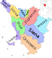 Map Of Region Tuscany Italy With Provinces Ensvg