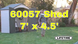 Suncast Sutton 7x7 Shed by Lifetime 60057 Plastic Storage Shed Outdoor Building 7 Ft X 4 5 Ft