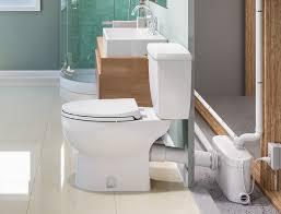 Basement Bathroom Ejector Pump Floor by Saniplus