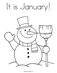 It Is January Coloring Page