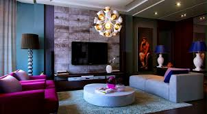 Grey Brown And Turquoise Living Room by Grey And Purple Living Room Interior Design
