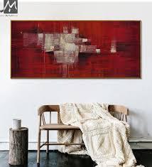 große wand bilder abstrakte gemälde moderne abstrakte acryl gemälde für wohnzimmer wand in rot weiß öl auf leinwand