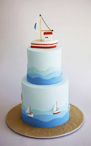 Smooth Sailing For Helena Kastanis Of Sweet Tiers And Her Christening Cake Alexandros Waves