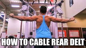 Pec Deck Flye Alternative by How To Cable Rear Delt Fly Exercise Youtube