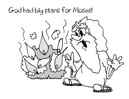 Inspiring Moses And The Burning Bush Coloring Page Cool Colorings Book Design Ideas
