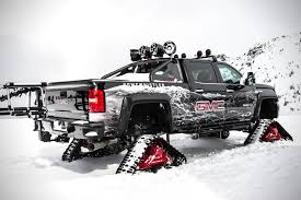 GMC Sierra All Mountain | HiConsumption American Track Truck Car Suv Rubber System Mattracks Snow Tracks You Can Buy The Snocat Dodge Ram From Diesel Brothers On 1985 Asv 2500 Bolton Tracks Turn Jeeps Into Snowmobiles In 15 Minutes Litetrax Home Lite Trax Systems Woodys Mini Trucks Gmc Sierra All Mountain Concept Is Designed To Dominate Snow Roadshow Ski Double Electric Scooter Mobile For Children Sovietera Screwpropelled Truck Returns Fox News Brilliant Transformational Transportation Design The N Go Pickup Right Int