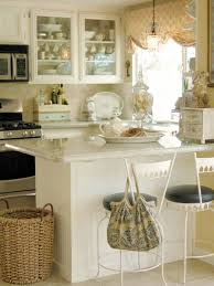 KitchenImpressive Retro Kitchen With Shabby Chic Decor Also Classic White Island Impressive