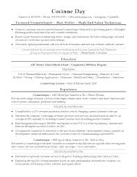 Cosmetology Resume Sample Recent Graduate Packed With Cosmetologist Example For