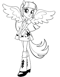 Twilight Sparkle Coloring Page Pages My Little Pony With Wings