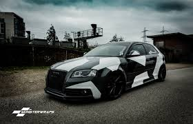 Monsterwraps   Audi A3 Stealth Grey Camo Wrap - Car Wrapping ... Camo Truck Wraps Vehicle Camowraps Truck Wrap Archives Powersportswrapscom Chunky Wrap Pinterest Cars Fort Worth Dallas Zilla Urban Realtree Accent Jeepvehicle Free Shipping Full Kits Boneyard Gear 2019 Arctic White Black Gray Snow Camouflage Film Wrapping