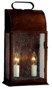 outdoor post lantern antique copper handcrafted colonial post