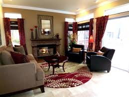 Red Tan And Black Living Room Ideas by 25 Dark Red Walls Living Room Traditional Living Room Idea In San