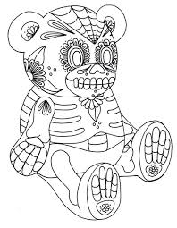 Free Printable Coloring Pages For Adults Sugar Skulls And Roses Pictures Of Skull Crossbones Yucca Flats