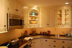 Corner Display Cabinet Kitchen Traditional With Blue Island Custom Cabinetry