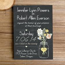 Rustic Wedding Invitations Cheap 8617 In Addition To Chalkboard Mason Jar