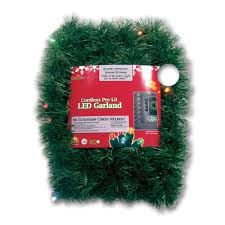 Brite Star Micro Mini 18 Ft Pre Lit LED Battery Operated Pine Garland With