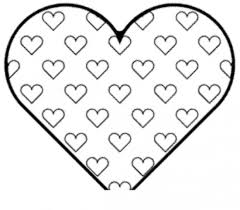 Homey Ideas Heart Coloring Pages To Print Valentines Happy Day