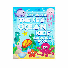 Life Under The Sea Ocean Kids Coloring Book