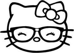 Hello Kitty Coloring Pages Cartoons Pictures With Glasses Color By Number