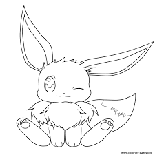 Baby Eevee Pokemon Coloring Pages