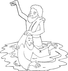 Click To See Printable Version Of Baptism Jesus In River Jordan Coloring Page