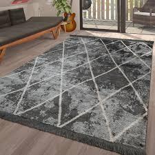 teppich fransen wohnzimmer skandinavisch in creme