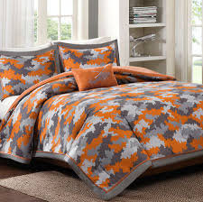 Grey Camo Bedding Teen Boy Camouflage forter Set Twin XL Full