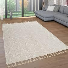 teppiche teppichböden kurzflor wohnzimmer teppich fransen