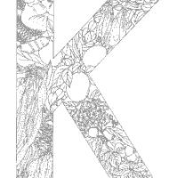 Plant Alphabet Letter K