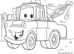 2017 Coloring Pages Of Disney Cars With Mater Printable