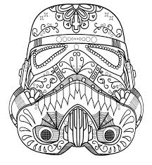 Day Of The Dead Sugar Skull Page Winsome Inspiration Coloring Pages Dark Vader