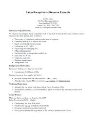 Medical Receptionist Resume Template fice Administration Medical