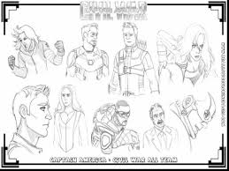 Spectacular Civil War Captain America Coloring Pages Printable With And